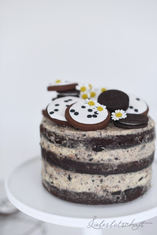Pfingstferien Oreo Naked Cake Liebesbotschaft Blog